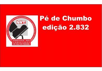 Pé de Chumbo edição 2.832 (Acordo Coletoras de Lixo – Jacareí, S. José, Caçapava, Taubaté, Pinda e Campos do Jordão)