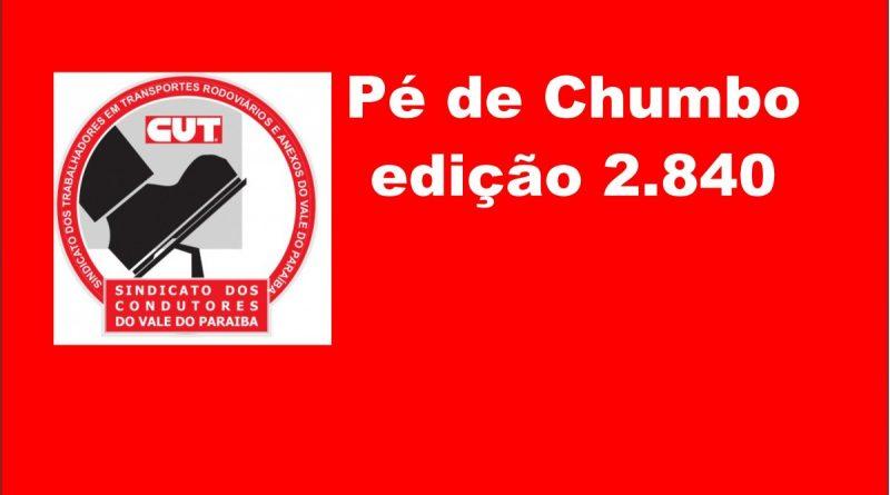 Pé de Chumbo edição 2.840 (Acordo Intermunicipal/Suburbano e Rodoviário)
