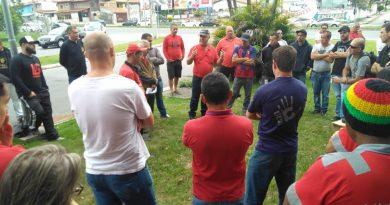 Protesto na Veolia em São José