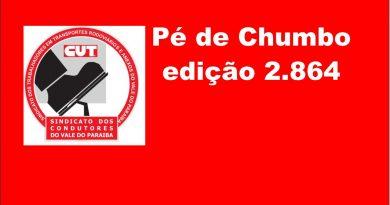 Pé de Chumbo edição 2.864 (Aos Trabalhadores do Transporte Rodoviário do Vale do Paraíba)