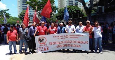 Sindicato participou de ato público contra o fim da Justiça do Trabalho e dos Direitos Sociais