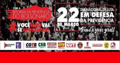 Dia 22/03 tem grande Ato contra o fim da aposentadoria!