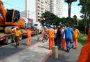 Começam as obras em ponto de ônibus na orla do Banhado em S. José