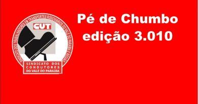 Pé de Chumbo edição 3.010 (Acordo Coletoras de Lixo (S. José, Caçapava e Campos do Jordão))