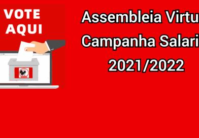Confira o resultado da Assembleia Virtual para a Campanha Salarial 2021/2022