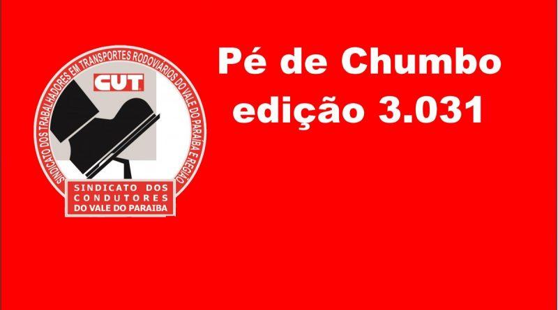 Pé de Chumbo edição 3.031 (Carta Aberta à População de S. José dos Campos)