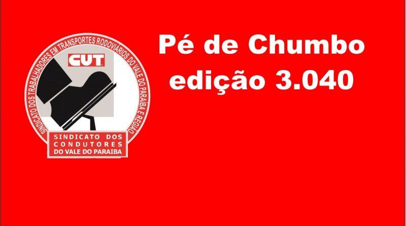 Pé de Chumbo edição 3.040 (Acordo Coletoras de Lixo (Jacareí, S. José, Caçapava, Taubaté, Pinda e Campos do Jordão))